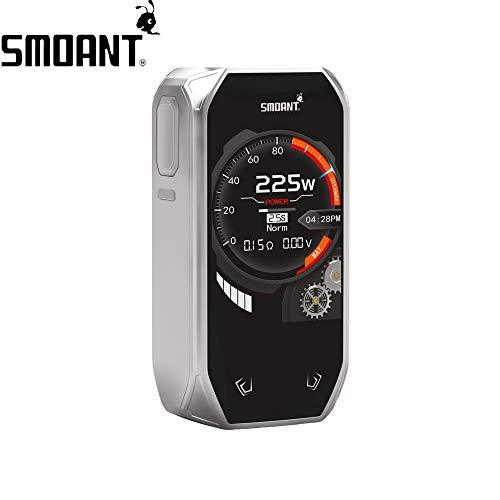 Smoant Naboo 225W TC Box MOD with 2.4 inch Screen/ Ant225 chip/New Music Mode, Electronic Cigarette No Nicotine, No E Liquid  (Stainless Steel)