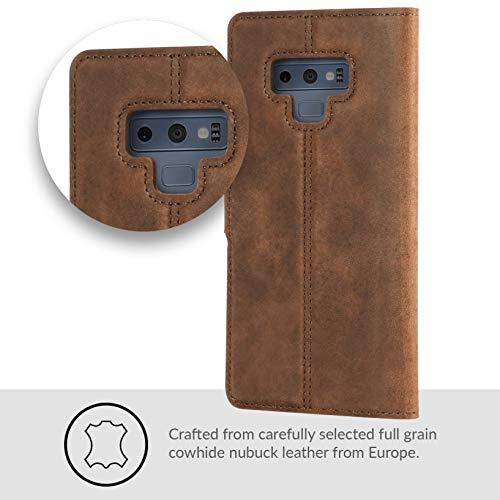 newest 9fd72 552b6 Snakehive SAMSUNG NOTE 9 case, Luxury Genuine Leather Wallet with Viewing  Stand and Card Slots, Flip Cover Gift Boxed and Handmade in Europe by for  ...