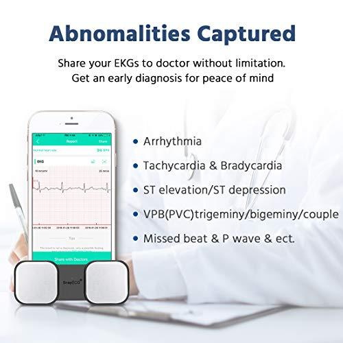 SnapECG Portable EKG Monitor, Handheld ECG Heart Rate Monitor for Smart  Phone, Wireless Heart Performance Tracking without ECG Electrodes Required,
