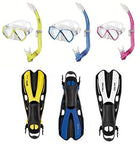 Snorkelling Set For Children and Young People For Age 13 + Fins Mask and Snorkel with Blow-Off, white/pink
