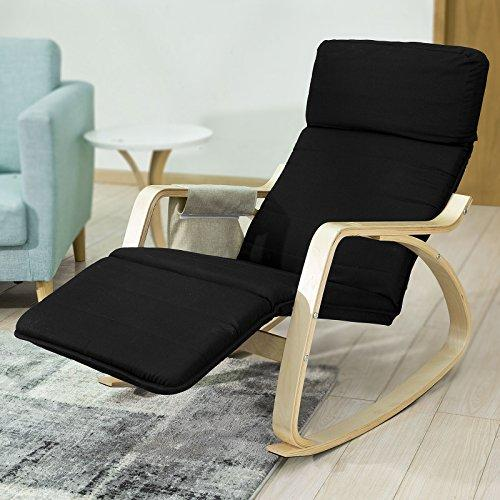 Comfortable Relax Rocking Chair with Footrest Design Lounge Chair Recliner with Side ... & SoBuy NEW! Comfortable Relax Rocking Chair with Footrest Design ...
