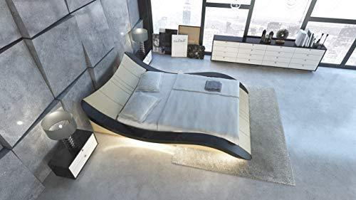 Sofa Dreams Waterbed Frankfurt in Leather with Led Lighting