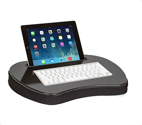 Sofia+Sam Mini Lap Desk | Supports Laptops Up To 15 Inches (Black with Tablet Slot)