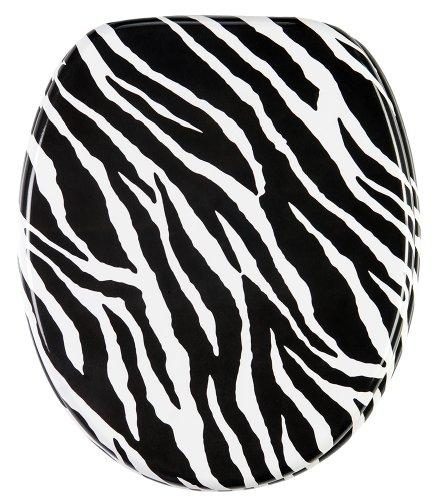 Soft Close Toilet Seat | High-Quality surface | Stable Hinges | Easy to mount | Zebra Look