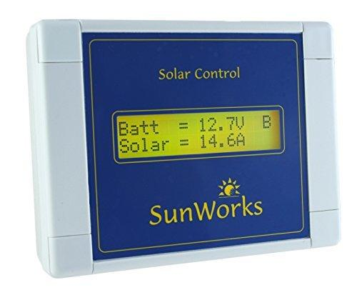 Solar panel charge controller regulator. SunWorks SB2CGRY. For motorhomes, boats and caravans. 15 amps (240 Watts). Intelligent automatic battery charging. Step by step, illustrated instructions in plain English.