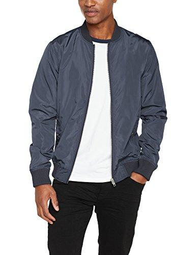 !Solid Men's 6189124 College Jacket Crew Neck Long Sleeve Bomber Jacket - Blue - XX-Large