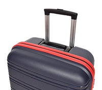 "Solid PP 4 Wheel Luggage Set TSA Lock Bag 3 Sizes Cabin/20"" Medium/24"" Large/28"" Suitcases - Nova (Navy)"