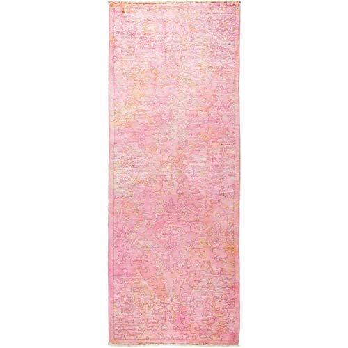 "Solo Rugs Hand Knotted Runner Rug, Wool Rose, 3' 2"" x 8' 3"""