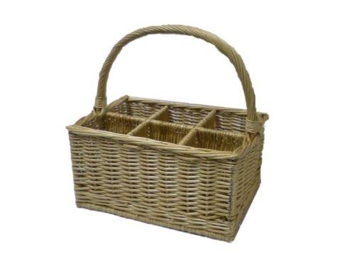 Somerset Levels Wicker Wine Basket 6 Bottles