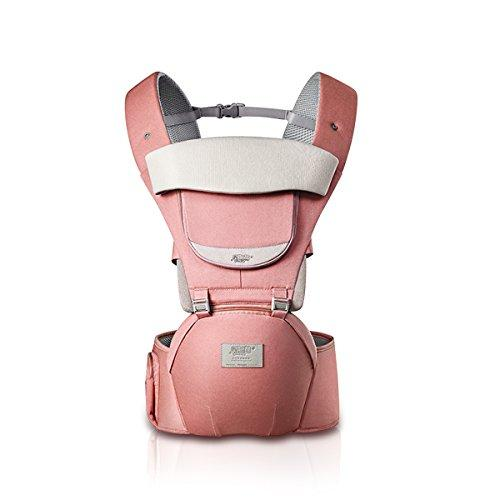 SONARIN 3 in 1 All Season Breathable Hipseat Baby Carrier,Sun Protection,Ergonomic,Multifunction,Easy Mom,Adapted to Your Child's Growing, 100% Guarantee and Free DELIVERY,Ideal Gift(Pink)