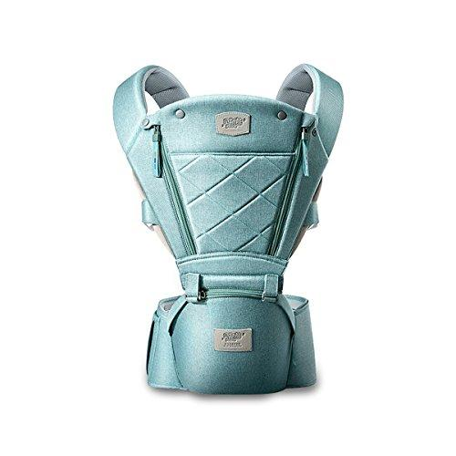 SONARIN 3 in 1 Breathable Hipseat Baby Carrier,Front Opening Design,Sun Protection,Multifunction,Adapted to Your Child's Growing, 100% Guarantee and Free DELIVERY,Ideal Gift(Green)