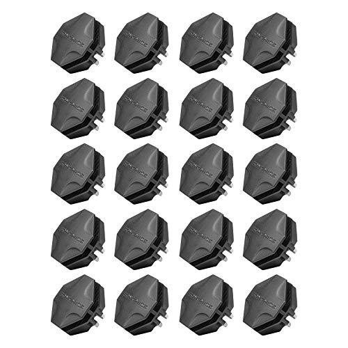 SONGMICS 20 Pieces Interlocking Plastic Connectors for DIY Storage Cubes Cabinet Shoe Rack Black ALPC0B-20V1