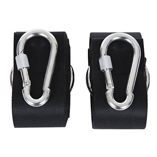 SONGMICS 3.2 m Hammock Tree Straps with 2 Snap Hooks, Made of Tear-resistant Nylon, Holds Up to 270 kg, Black GDC01P