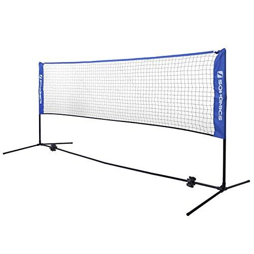 SONGMICS 5 m Portable Badminton Tennis Net Height Adjustable Net System with Stand SYQ500V1