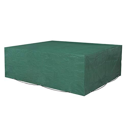 SONGMICS Garden Furniture Cover 200 x 160 x 70 cm Waterproof Rectangular Garden Furniture Cover for Table and Chairs GFC91L Green