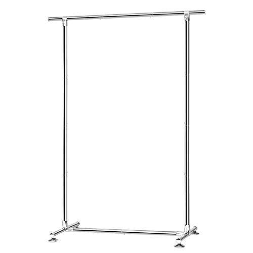 SONGMICS Garment Rack, All-Metal Clothes Rack, Robust Hanging Rail, 45 kg Load, 110 x 44 x 158.5 cm(L x W x H), for Coats, Shirts, Dresses, Scarves, Bags, Silver LLR12SV