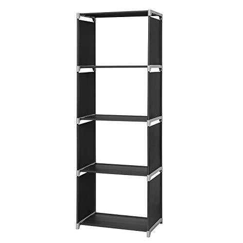 SONGMICS LSN14H 4-Compartment Shelving Unit for Kitchen, Hallway, Canteen or Study, 50 x 30 x 147 cm, Fabric