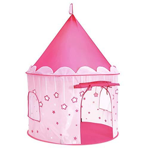 SONGMICS Princess Castle Play Tent for Girls Toddlers, Indoor and Outdoor Playhouse, Portable Pop Up Play Teepee, Gift for Kids, Pink LPT01PK