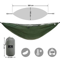 SONGMICS Quilted Hammock, Thick Double Hammock with Polyester Wadding, Multi-Loop Straps, Load Capacity 300 kg, 260 x 140 cm, for Camping, Hiking GDC18AG