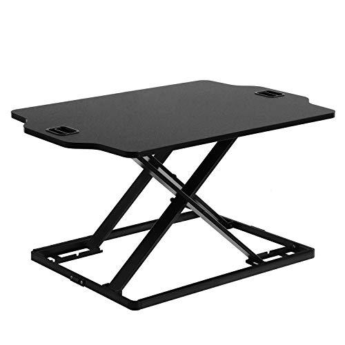 SONGMICS Standing Desk, Height Adjustable Sit-stand Workstation Converter, Lightweight Stand Up Desk, for Computer, Laptop and Office Supply, Black LSD02BK
