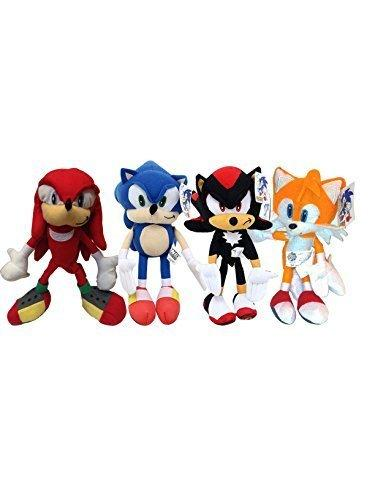 Sonic the Hedgehog, Shadow, Knuckles, and Tails 7'' Plush Doll Set of 4 Pieces by Nanco