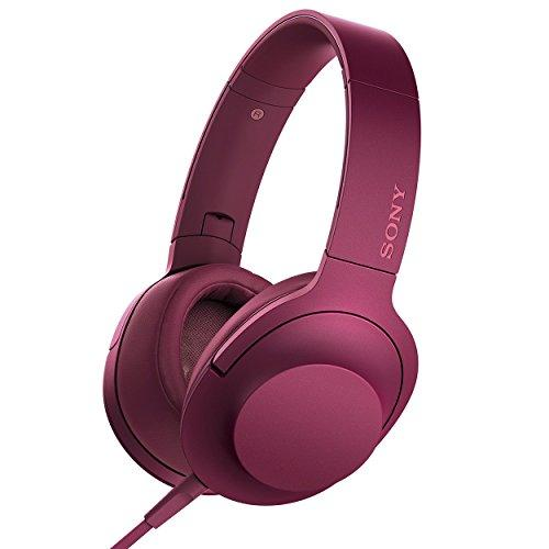 Sony h.ear on Premium Hi-Res Stereo Headphones (wired), Bordeaux Pink