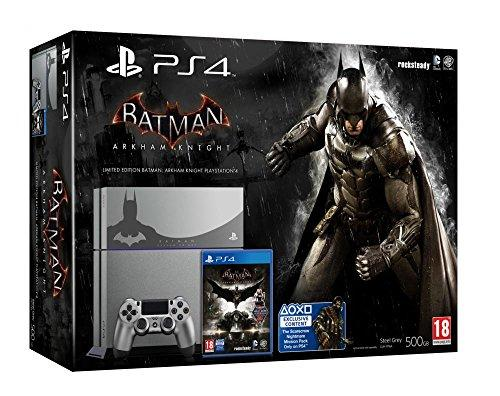 Sony PlayStation 4 500GB + Batman Arkham Knight - game consoles (PlayStation 4, HDD, Black, Grey, 802.11b, 802.11g, 802.11n, GDDR5, AMD Jaguar)