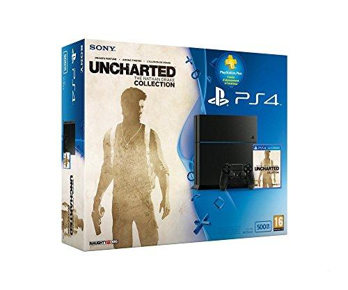 Sony Playstation 4 500GB + Uncharted : The Nathan Drake Collection + PS Plus 3 Months - game consoles (PlayStation 4, Black, 802.11b, 802.11g, 802.11n, GDDR5, AMD Jaguar, AMD Radeon)