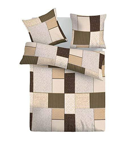 SoulBedroom Fabio 100% Cotton Bed Set (Duvet Cover 155x200 & 1 Pillow Case 50x75 cm) (Euro Single)