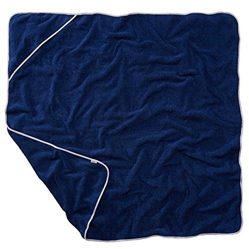 Sowel Hooded Towel Adult, Beach Towel, 100% Cotton Terrycloth, Size 55 x 55 inches, Navy Gray