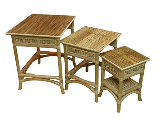 Spice Islands Nesting Table/Middle Table with Small Table, Natural