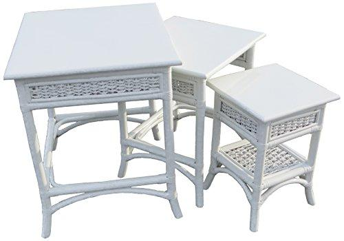 Spice Islands Regatta Nesting Table, White