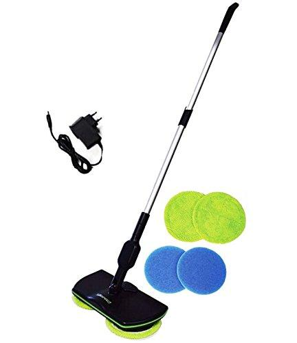 Spin Maid 2018 Cordless Electric Spinning Mop,Rechargeable Powered Floor Cleaner Scrubber Polisher Mop, Handheld Vacuum Floor and Carpet Tile Sweeper Maid