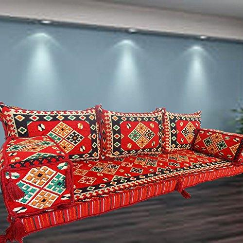 Spirit of 76 Handmade floor sofa set,arabic majlis,arabic jalsa,floor  seating couch,floor cushions,oriental floor seating,hookah bar  furniture,living