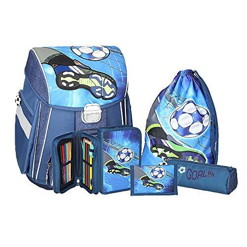 Spirit Schoolbag Set Blue Football Goal