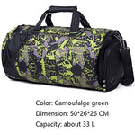 SPOROWJD 18L / 33L Camo Color Shoulder Sports Bag For Gym Shoes Storage Basketball Bag camo green big