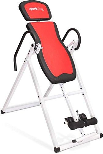Sportplus Inversion Table, adjustable inversion angles 20°, 40°, 60°, 80°, +/-90°, foldable for home use, user size approx. 154cm to 199cm, user weight up to 135 kg, Inversion Bench, Saftey tested