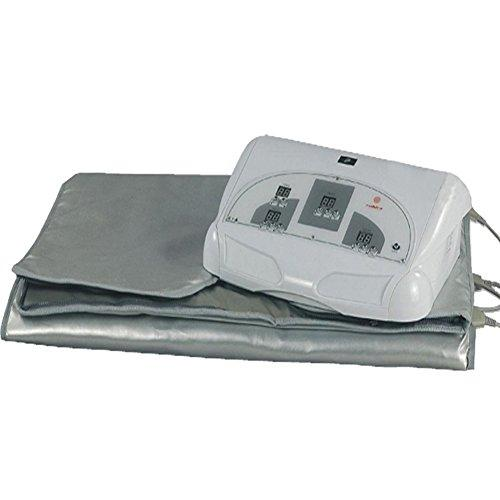 SPORT&SAUNA-Improved Infrared Sauna Blanket 3 Zone Weight Loss Far Spa Detox More Safety, 110/220V, 0-60 Minutes