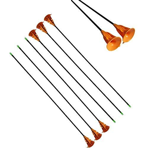 Sportsmann Archery Fiberglass Arrows Suction Cup Children Sucker Arrows Game Arrows Kids Arrows Safe Arrow for Youth Children Compound Recurve Bow Outdoor Target Sports Game Toy Gift (12pcs)
