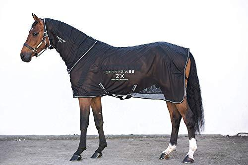 Sportz-Vibe ZX Horse Rug Black/Black/White Medium