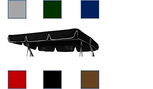 Springs & Canopies Replacement Canopy for Garden swing 2/3 seater different sizes and styles available (Black, 190 x 115 Flat)