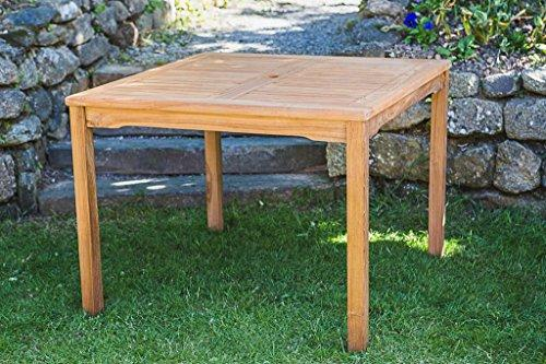 Square Fixed M Solid Teak Patio Table High Quality Store - Solid teak outdoor table