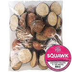 SQUAWK Suet Filled Coconut Halves - Hanging Wild Bird Food Garden Fat Feeder (50 Pack)
