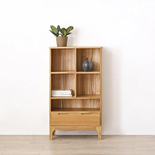 stable Rack, Simple modern Solid wood Bookcase oak bookcase bookshelf Woody Home storage box study Furniture 1250 * 700 * 315mm Simple and elegant