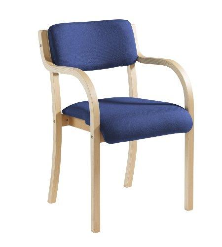Stacking visitor chair range - Wood Frame Stack Chair Arms - Blue (PRA50001-B) H830xW530 - Red