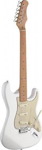 Stagg SES50M-CWH Vintage Style Electric Guitar - Cream White