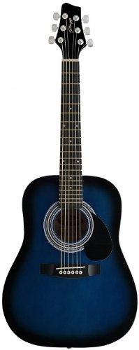 Stagg SW201 1/2 BLS Dreadnought 1/2 Model Acoustic Guitar - Blueburst