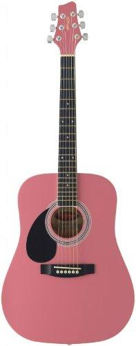 Stagg SW201 3/4 LH PK Dreadnought 3/4 Model Left Handed Acoustic Guitar - Pink