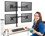 Stand Steady Monitor Arm | Height Adjustable with Full Articulation | VESA Mount Fits Most LCD / LED Monitors 13 - 32 Inches | Includes Clamp and Grommet (4 Monitors)