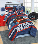 Star Wars 6 Pc Complete Bed Set with Cotton Rich Sheets. Super Soft Reversible Comforter Twin Size